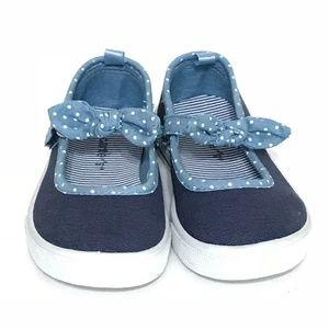 Carter's Kids Girls Casual Sneakers 7 Navy